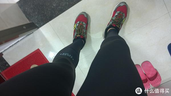 我的跑步装备:CW-X Expert 压缩裤 & UA Coldgear 紧身衣& Saucony Ride5 跑鞋