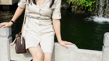 宝妈的新装,Mango 衬衫式连衣裙 & coach 蔻驰 手提斜挎包 & ecco 爱步 Nephi 女款长靴