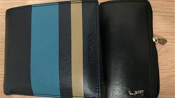 匆匆这年入的小玩意儿 篇五:Coach 蔻驰 男士蓝色短款两折钱包 & Vishark 鲨鱼 黑色皮钥匙包