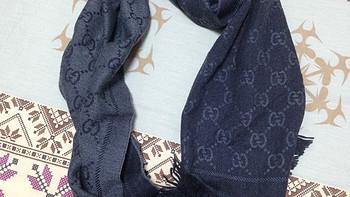 给LD的新年礼物,香港入手GUCCI 古驰 女款羊毛提花围巾