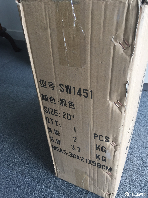 SWISSWIN 瑞士十字 ABS材质 20寸拉杆箱