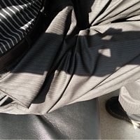 宽就一个字:Haggar Striped Plain-Front 男士条纹西裤