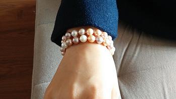 准时的礼物&迟到的晒单:BlueNile14k 白金双串粉色淡水养珠手链