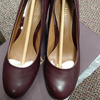 Clarks 其乐 Basil Auburn Dress Pump 女款真皮高跟鞋