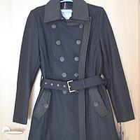 二货女王范的羊毛大衣:Tommy Hilfiger Wool Double-Breasted Coat