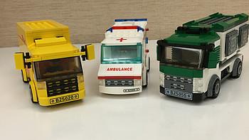 小众拼插玩具系列:星钻积木城市系列救护车