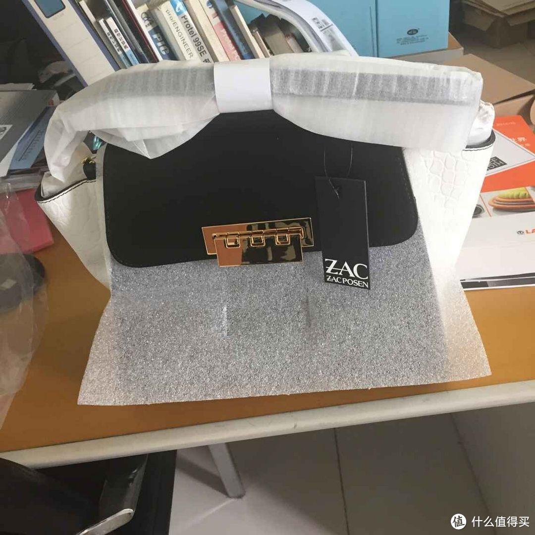 ZAC Zac Posen Eartha系列 Colorblock Leather Satchel 女款拼色手提包
