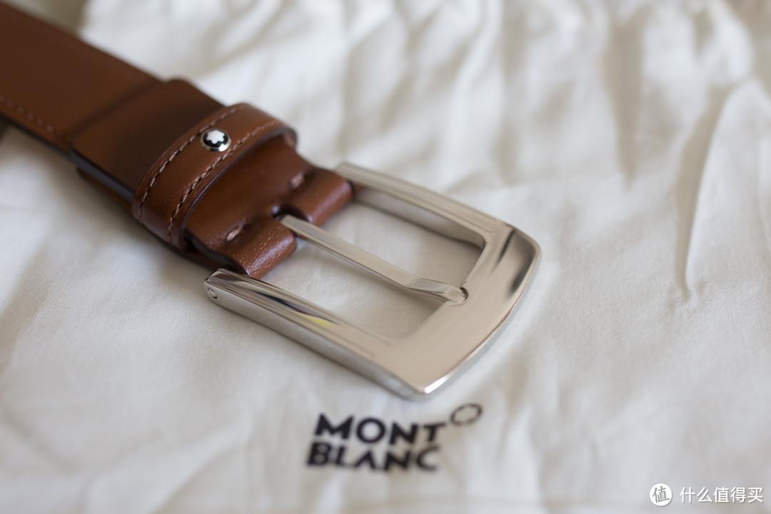 低调小白星,买给自己的父亲节礼物:MONTBLANC 万宝龙 棕色腰带 111079