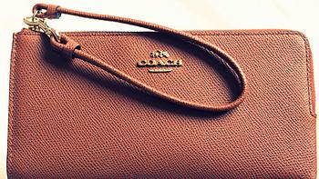COACH蔻驰 三维纹理皮革女士拉链钱包