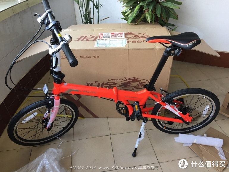 入门之选:Langtu 狼途 KY028 折叠自行车  20寸 8速