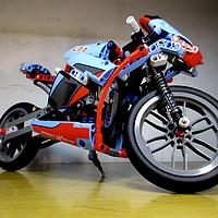 乐高技术系列入坑 — LEGO 乐高 科技机械组系列 街头摩托赛车 L42036 开箱拼装