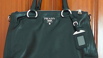 斜晖脉脉水悠悠:Prada 普拉达 女士黑色真皮手提单肩斜挎包 BN2866