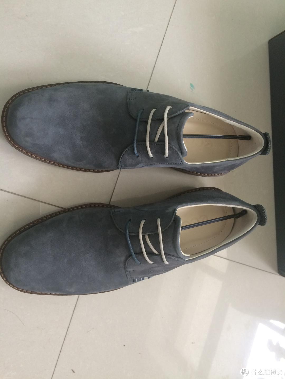 奇葩的欧码:ecco 爱步 Contoured Plain Toe Tie 男士休闲皮鞋
