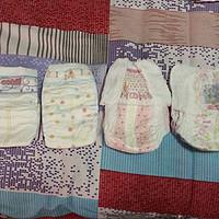 我家宝贝用过的纸尿裤对比