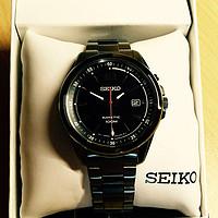 小巧又精美,SEIKO 精工  Kinetic SKA605 男款人动电能腕表
