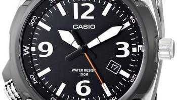 #双11晒战绩# Casio 卡西欧 MTF-E001-1AVCF 经典黑色石英男表