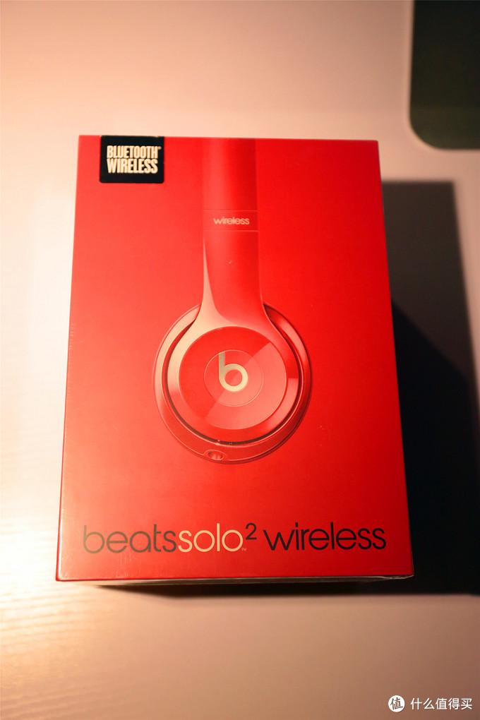 美亚入Beats Solo2 Wireless 红色蓝牙版 开箱