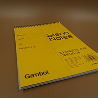 简单测评 Gambol 渡边 WCN-S6090 6x9 80页螺旋速记本