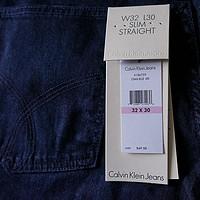 穿着舒服的Calvin Klein Slim Straight-Leg 牛仔裤 另附实际尺码