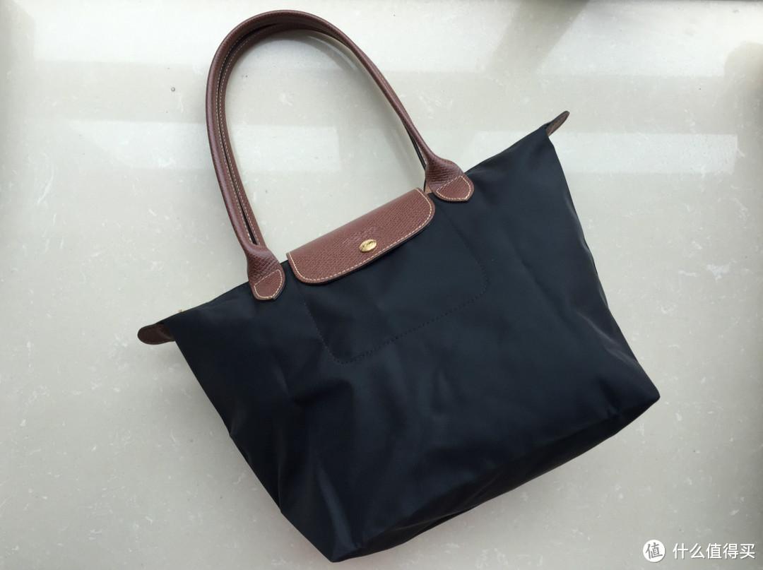 Longchamp 珑骧女款尼龙长柄中号手提包1899黑色