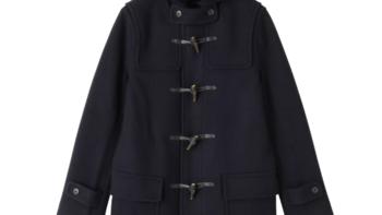 日本官网购入:MUJI 无印良品 羊毛混纺牛角扣大衣