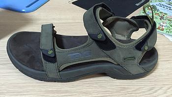 男士TEVA皮质运动凉鞋开箱晒单、穿着感受及尺码建议