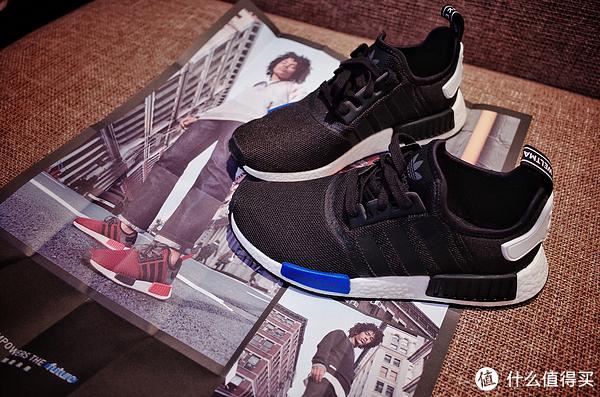 #首晒# Adidas 阿迪达斯 NMD Primeknit 东京城市蓝黑 限定跑鞋 开箱