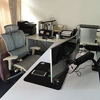 半开箱 AOC LV243XID 23.8英寸 显示器  与 Loctek DLB502-D 双显示器支架