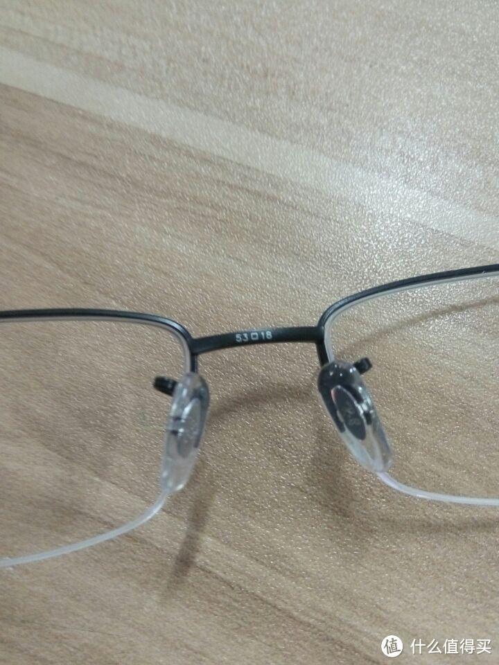 网上配镜晒单及体验:依视路 镜片钻晶A3+雷朋 RB8692 光学镜架