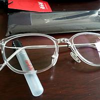 HAN 汉代 时尚光学眼镜架 HD3506-F22+1.60防辐射蓝光护目镜片