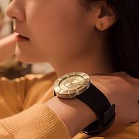 #本站首晒# ISSEY MIYAKE 三宅一生 TO系列 SILAN003 中性手表,附妹子真人照