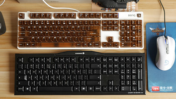 BenQ 明基 KX890天机镜 机械键盘 开箱与手里Cherry 樱桃 MX-Board 3.0茶轴 机械键盘 简单对比