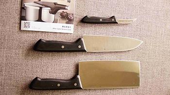 #本站首晒#WMF Classic Line系列厨房刀具三件套 开箱&简单使用