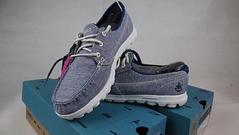 轻便船鞋:SKECHERS 斯凯奇 ON-THE-GO系列 女款休闲鞋