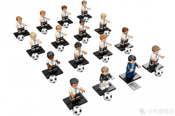 乐高LEGO 71014德国队人仔抽抽乐