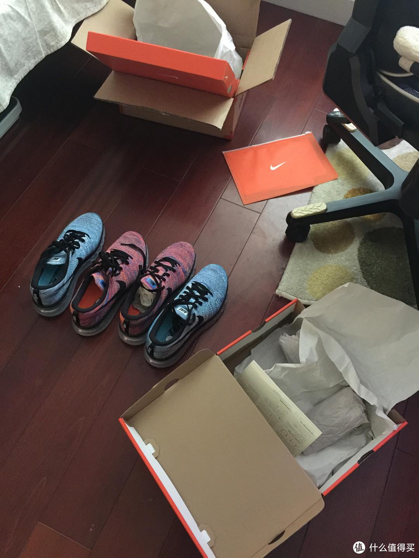 NIke 耐克 FLYKNIT AIR MAX  男子跑步鞋 双色开箱