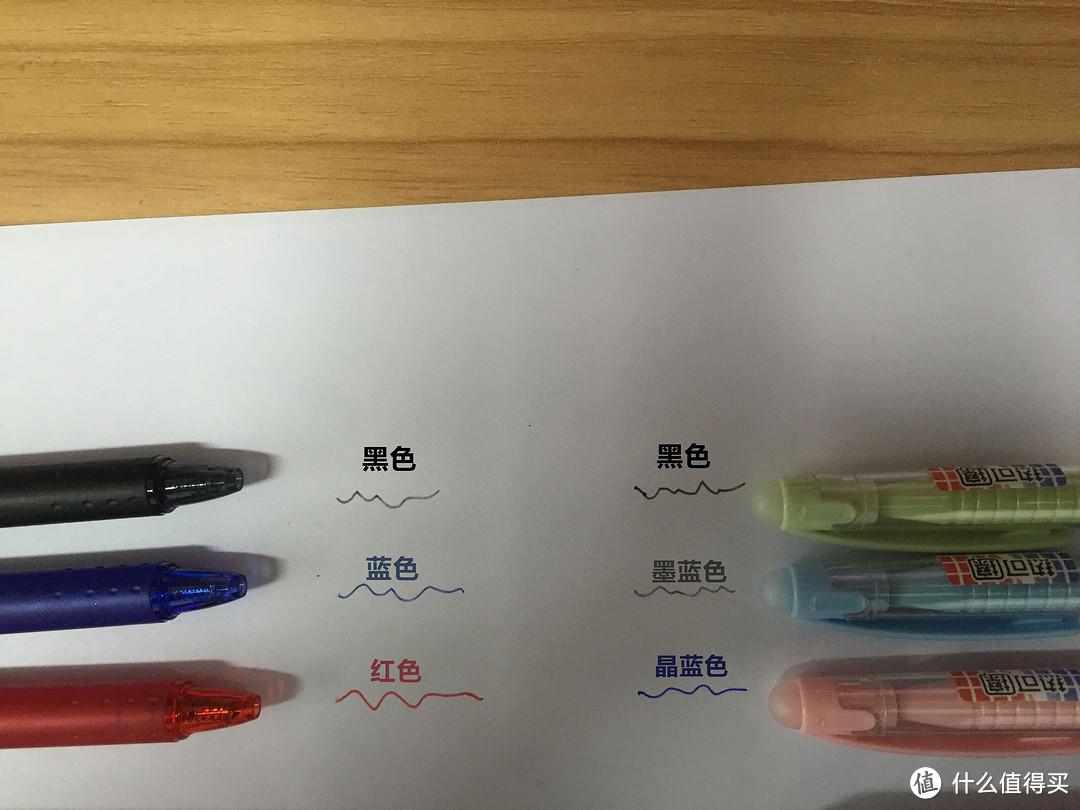 市面主流可擦中性笔评测:M&G 晨光 A9001 VS PILOT 百乐 LFBK-23EF 可擦笔