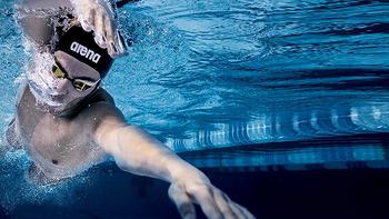 Arena 阿瑞娜 ISS9002M BKYL 男士泳裤 & ARN4420-SLV 泳帽 开箱