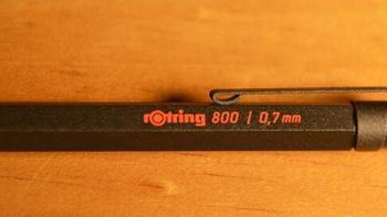 #本站首晒# rOtring 红环 800 0.7 mm 专业绘图自动铅笔