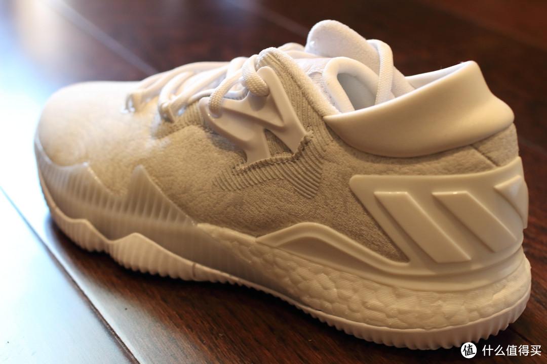 首款全掌BOOST篮球鞋:Adidas 阿迪达斯 Crazylight Boost 2016 Low 白色款