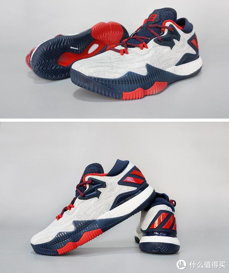#原创新人#adidas 阿迪达斯 Crazylight Boost 2016 Low 篮球鞋 开箱(siao红VS经典黑 )