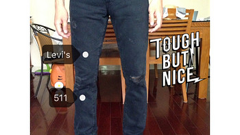服饰快消品 篇八:Levi's 李维斯 511 破洞做旧修身牛仔裤