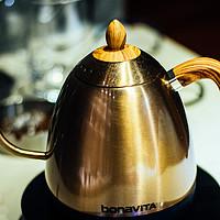 #本站首晒# 高颜值的手冲咖啡神器:Bonavita 博纳维塔 新款控温手冲壶 晒单