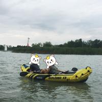 #原創新人#讓我們蕩起雙槳——INTEX Explorer K2充氣船開箱試浪