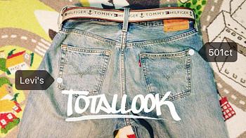 服饰快消品 篇十:女裤男穿拼了!买大好多的女款Levi's 李维斯 501 CT牛仔裤