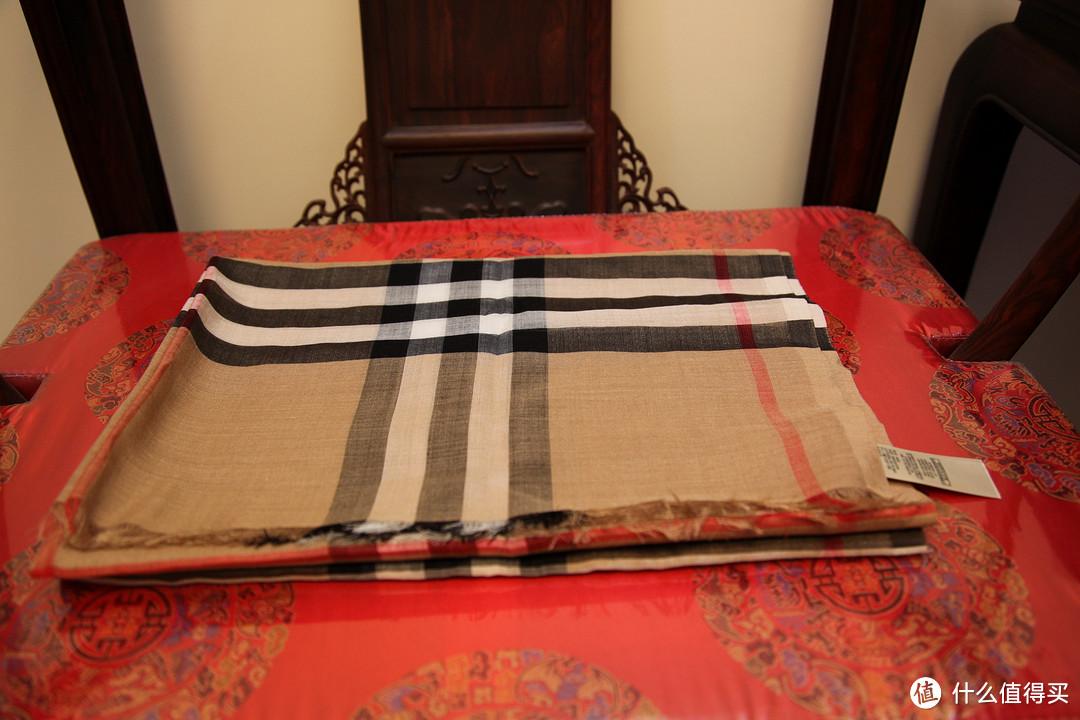 英国购入:2条 Burberry 博柏利 围巾 羊绒&丝巾