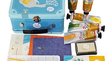 娃的画画启蒙:Joan Miro 美乐 儿童6色手指画套装手提箱