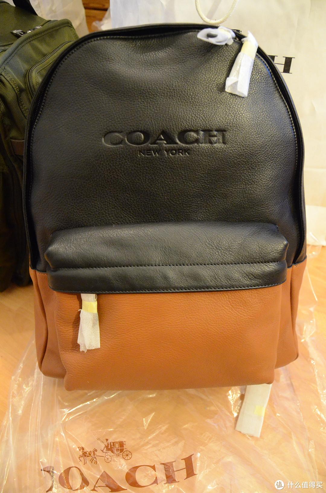 Coach 牛皮双肩背包