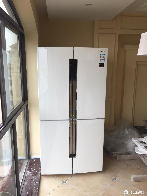 交了智商税,三星RF60J9030WZ进口十字门冰箱开箱。