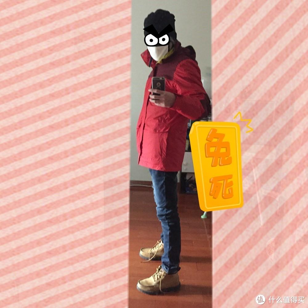 【真人兽】为冬天续1秒:DECATHLON 迪卡侬 户外运动保暖防水男式冲锋外套夹克